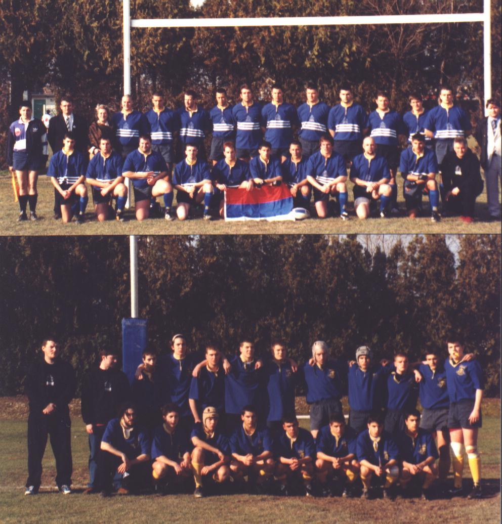 Прве репрезентације Србије у рагбију 13, сениорска и кадетска из 2003 године